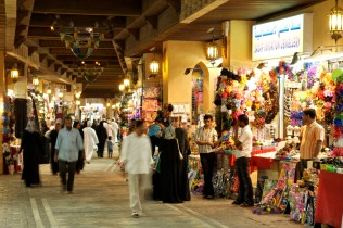 Interior of the Mutrah souk in Muscat, the capital of the sultanate of Oman.